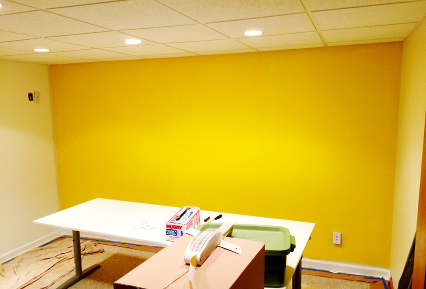 My awesome bright yellow wall.